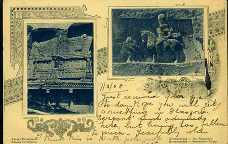 PC of ruins, to Mary, 7/3/1908