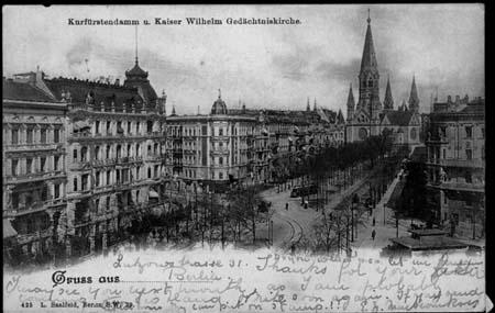 P.C. of Kurfurstendamm, to Mary, 1897