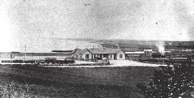 1864 Tain Railway Station under construction