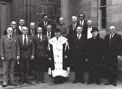 1974 Last Town Council outside Tolbooth