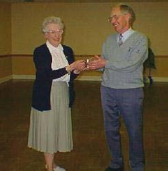 Singles Champion 200 receiving President's Millennium Trophy