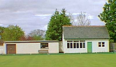 Original Clubhouse and modern greenkeepers shed