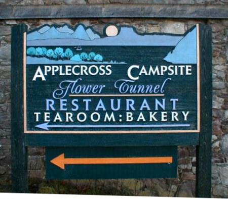 Applecross Campsite Sign