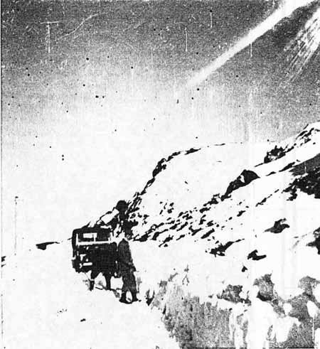 Digging through  Snow Drifts