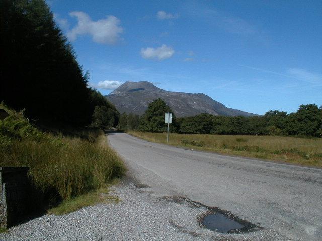 Slioch from Glen Docherty