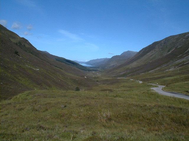 Towards Kinlochewe from Glen Docherty