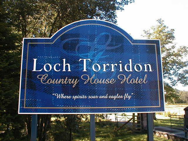 Loch Torridon Hotel Sign
