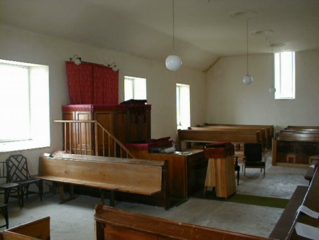 Interior of Coigach Free Church of Scotland