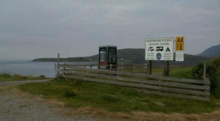 Ardmair Point boat and caravan site.