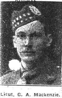 Mackenzie George A, 2nd Lieut, Alness