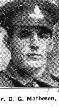 Matheson Duncan, Gunner, Alness