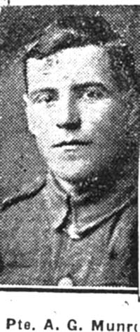 Munro Alexander G, Pte, Alness