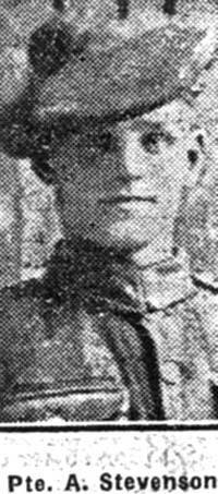 Stevenson Alexander R, Pte, Alness