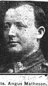 Matheson Angus, Pte, Alness