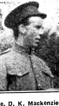 Mackenzie D K, Pte, Alness
