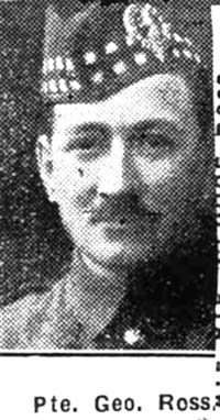 Ross George, Pte, Alness