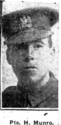 Munro Hector, Pte, Alness