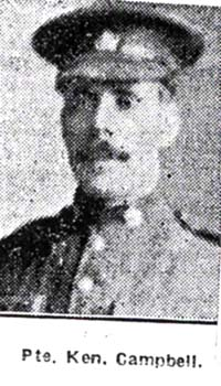 Campbell Kenneth, Pte, Alness