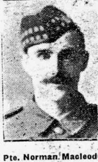 Macleod Norman, Pte, Alness