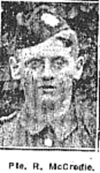 McCredie R, Pte, Alness