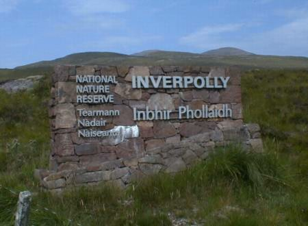 Inverpolly National Nature Reserve sign