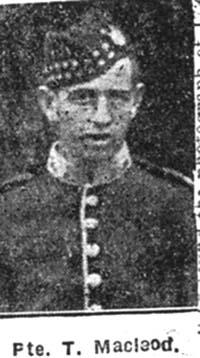 Macleod Thomas D, Pte, Alness