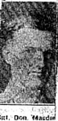 Macdonald Donald, Sgt, Alness