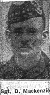 Mackenzie Duncan, Sgt, Alness