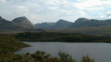 Loch Larguin and Coigach mountains