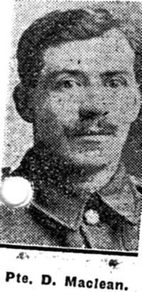 Maclean Duncan, Pte, Achnashellach