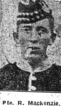 Mackenzie Robert, Pte, Achterneed