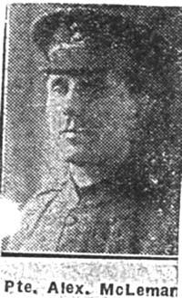Macleman Alexander, Pte, Avoch