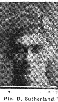 Sutherland Donald, Pte, Avoch