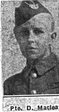 Macleay Duncan, Pte, Avoch