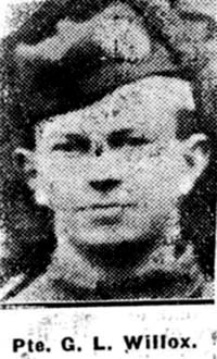 Willox George L, Pte, Avoch