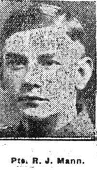 Mann Roderick J, Pte, Avoch