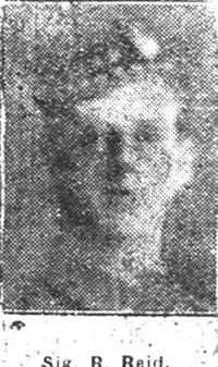 Reid Robert, Signaller, Avoch