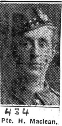 Maclean Hugh, Pte, Balnakyle