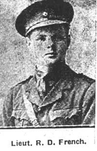 French R Douglas, 2nd Lieut, London ex Conon