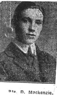 Mackenzie Donald, Pte, Conon