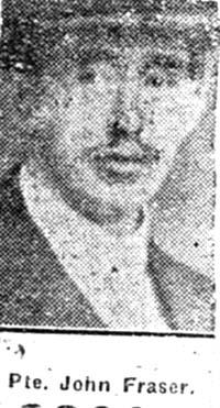 Fraser John, Pte, Conon