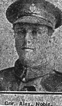 Noble Alexander, Gunner, Cullicudden