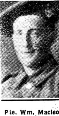 Macleod William, Pte, Delny