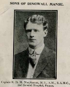 Macpherson Robert D M, 2 Lieut Dr, Dingwall