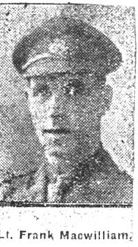 Macwilliam Frank, 2 Lieut, Dingwall