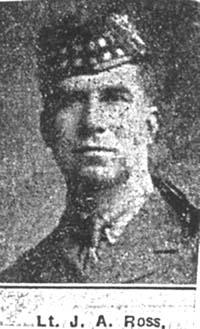 Ross James A, 2 Lieut, Fife Ex Dingwall