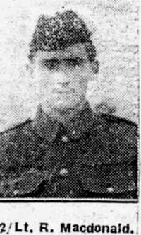 Macdonald Roderick, 2 Lieut, Dingwall