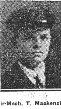 Mackenzie Thomson, Air Mechanic, Dingwall