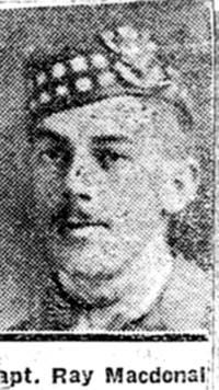 Macdonald Angus Ray, Capt, Dingwall