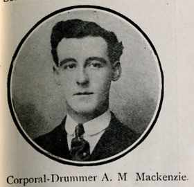 Mackenzie Alastair Matheson, Cpl Drummer, Dingwall